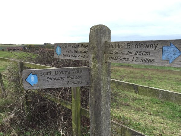Waymarker for Ditchling Beacon - Not far to go!