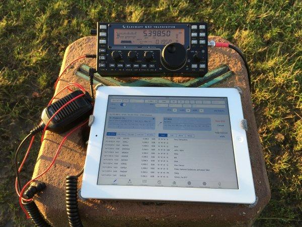 Elecraft KX3 & iPad on Trigpoint