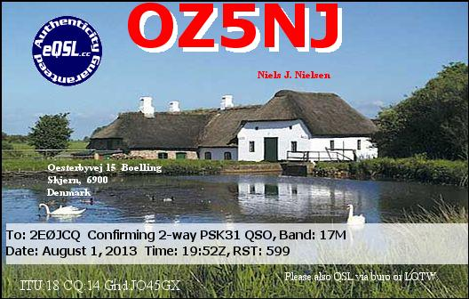 OZ5NJ eQSL Card