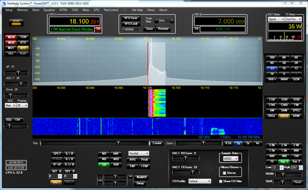 PowerSDR PSK31 Transmission