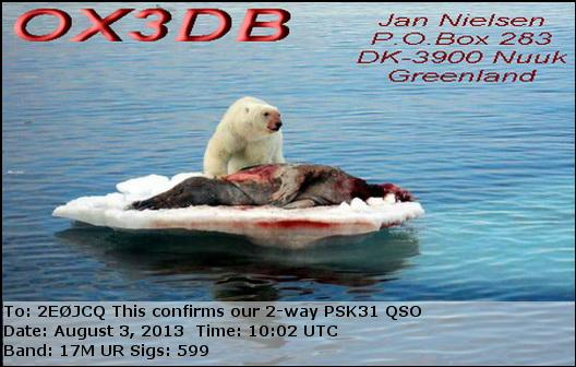 OX3DB eQSL Card