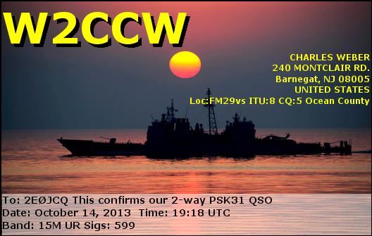 W2CCW eQSL Card