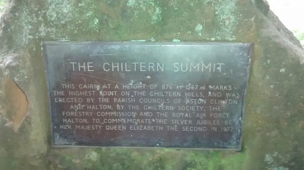 Chiltern Summit Plaque