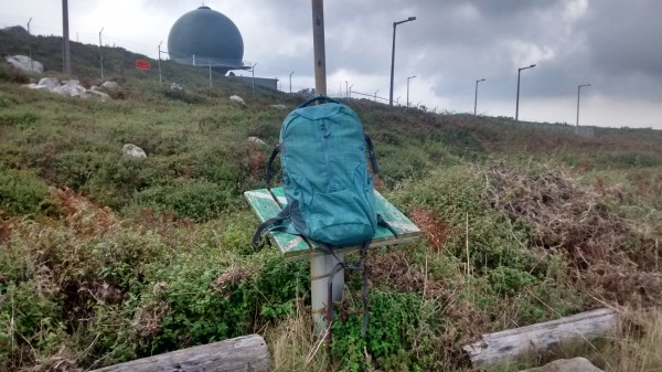 My complete setup in my bag on the summit marker