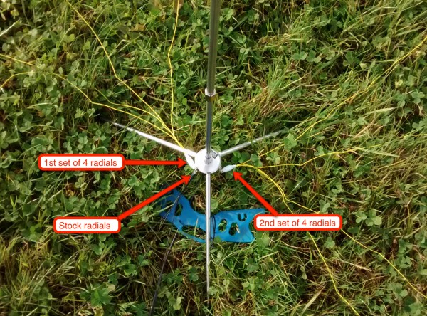 Radial modifications to SuperStick Antenna