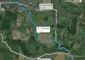 Walk from Hassocks to Ditchling Beacon
