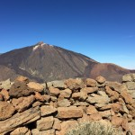 View of El Teide from summit cairn