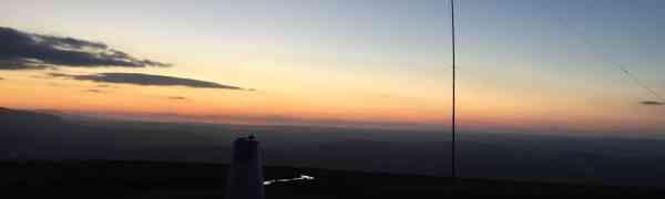 SOTA Activation in the Dark: Mynydd Llangorse (GW/SW-015)