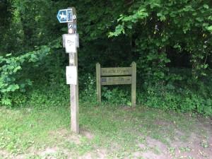 Sign at Beacon Batch Car Park