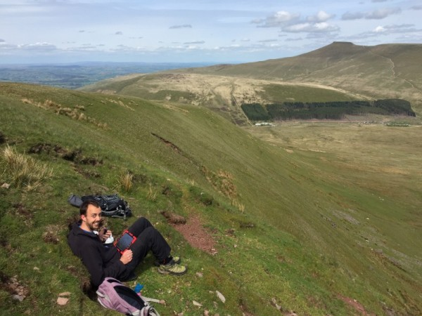 My operating position - looking across to Pen Y Fan (GW/SW-001) and Corn Du