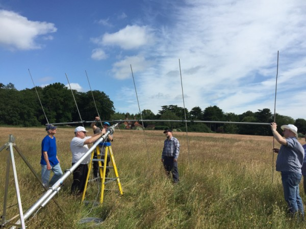 Putting final touches to the 6 ele 6m Yagi