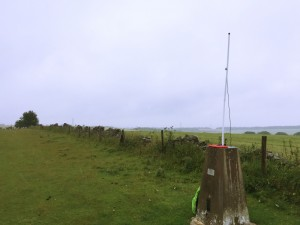 Trigpoint acting as a handy antenna support