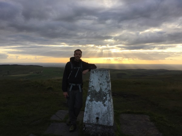 Author at the Trigpoint