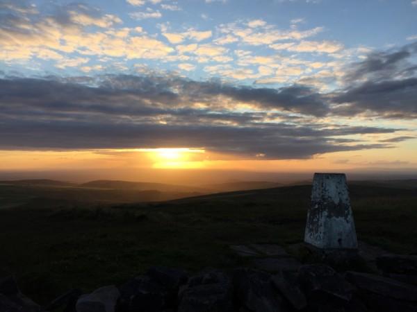 Sunset at Shining Tor