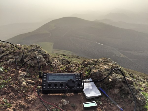 Elecraft KX3 looking out from Guardilama