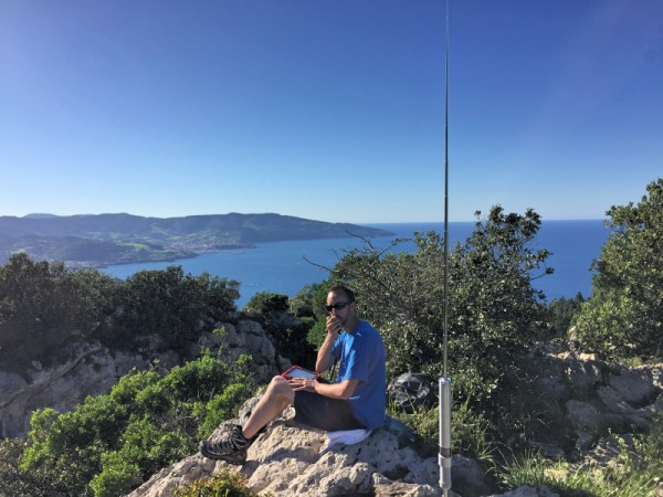 Me mid-QSO from Ogono