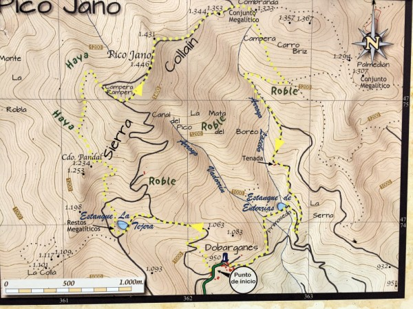 Pico Jano Walking Map we used