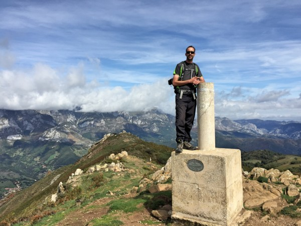 Me on top of Pico Jano trig point