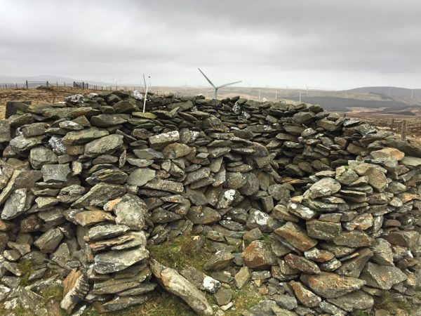 Very useful cairn shelter with a spiral configuration - designed to deal with any wind direction!