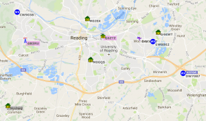 APRS Positioning Map