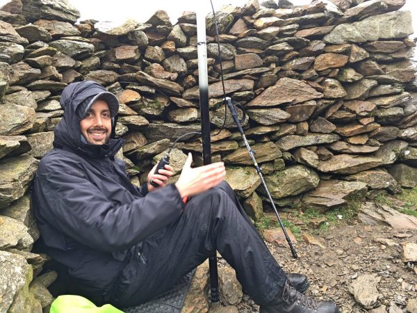 Author activating Moel Eilio (GW/NW-022)