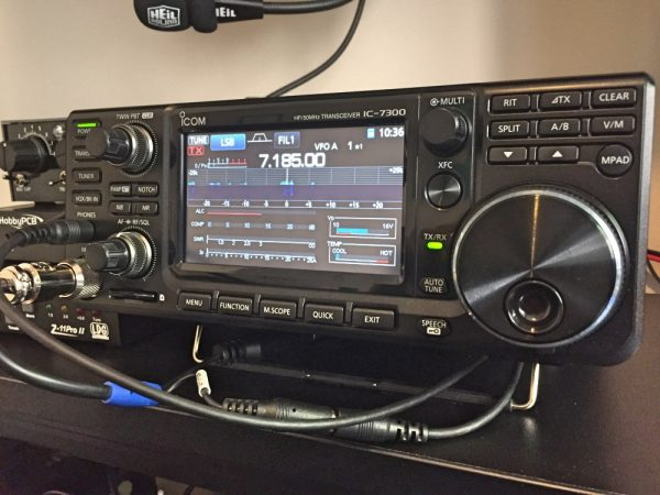 Icom 7300 - Ergonomics are really good