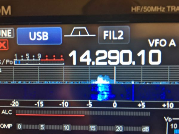 Waterfall display on the Icom 7300