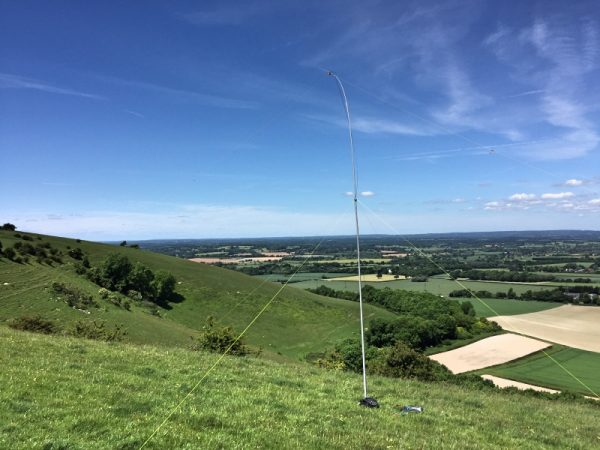 Inverted V Dipole for 60m on Cliffe Hill
