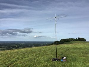 6m Moxon on Chanctonbury Beacon