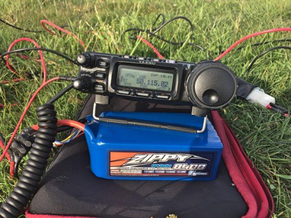 Using a LiFePo4 8400mAh battery to run Yaesu 857 at 50w