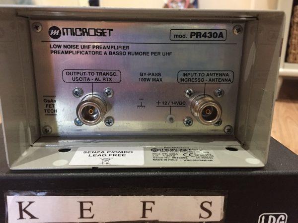 Microset Preamp PR430A for 70cm