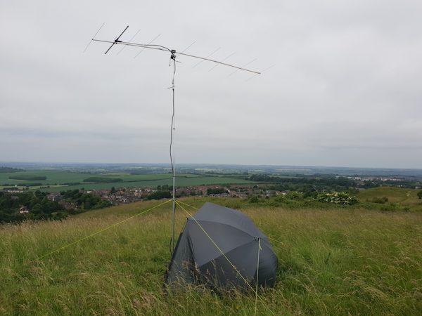 Great hilltop location