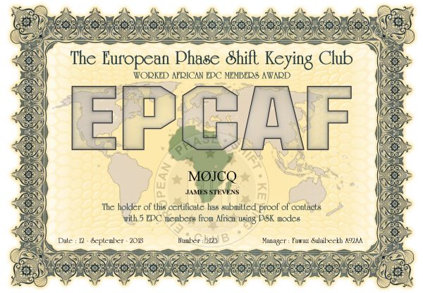 Worked EPC Africa Award - 5 EPC Members from across Africa