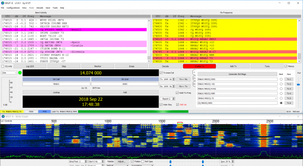 20m busy with FT8 activity