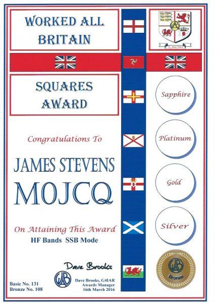 WAB Small Squares Award - Mixed HF - Bronze