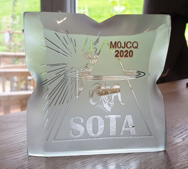 SOTA Mountain Goat trophy